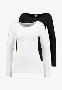 Anna Field Tall - 2ER PACK  - Long sleeved top - black/white - 3