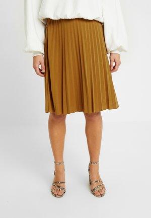 Áčková sukně - golden brown