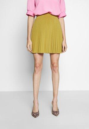 Áčková sukně - mustard