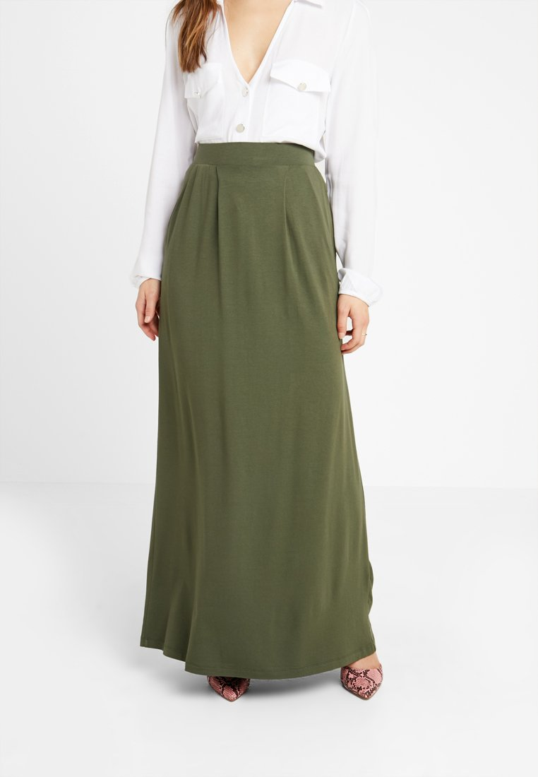 Anna Field Petite - Maxi skirt - olive night