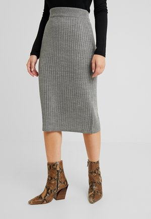 Pencil skirt - mid grey melange