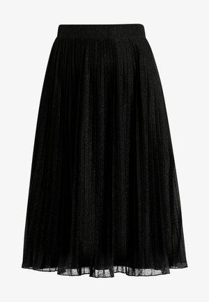 A-lijn rok - metallic black