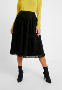 Anna Field Petite - A-line skirt - metallic black - 0