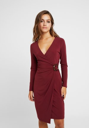 Jersey dress - dark red