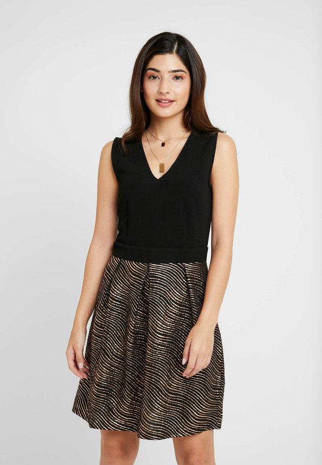 Korte jurk - gold/black