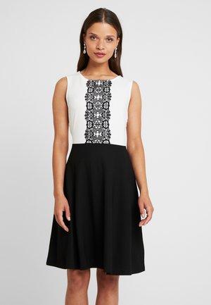 Žerzejové šaty - black/off-white