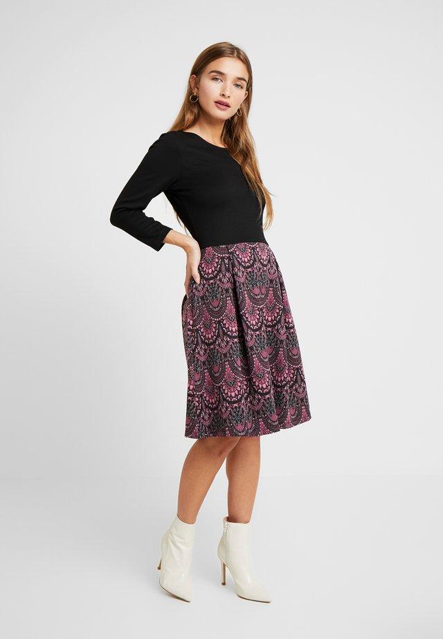 Jersey dress - purple/black