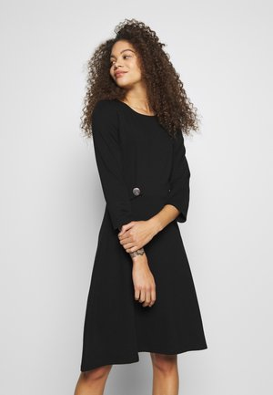 DRESS FIT&FLARE - Jersey dress - black