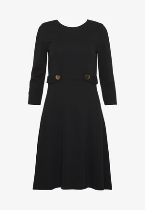 DRESS FIT&FLARE - Jerseyklänning - black