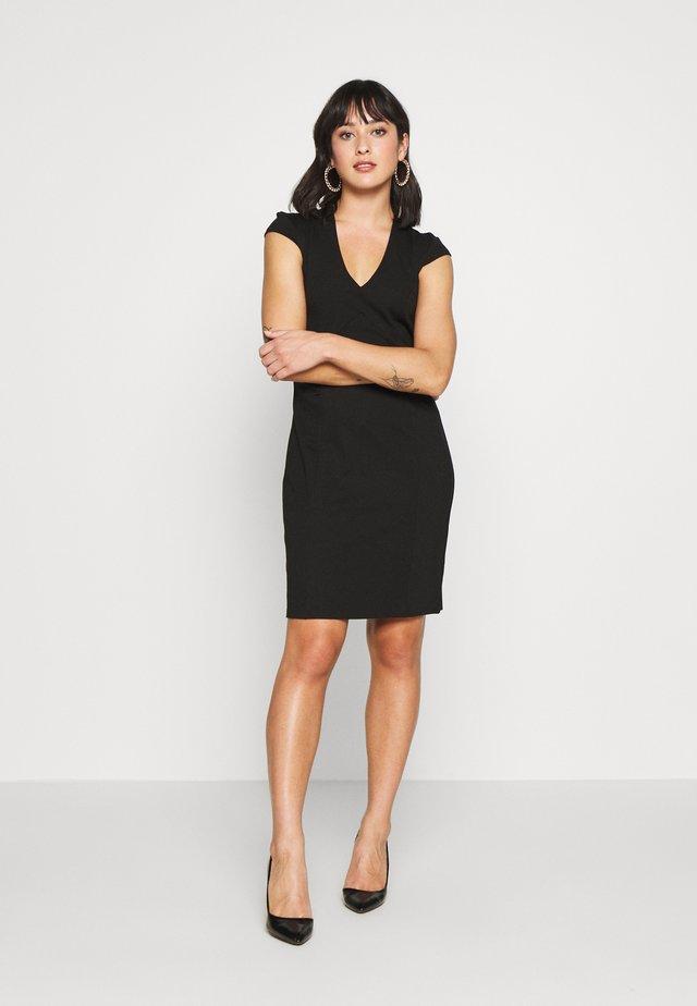 Shift dress - black/black