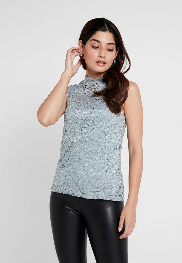 Blouse - silver blue