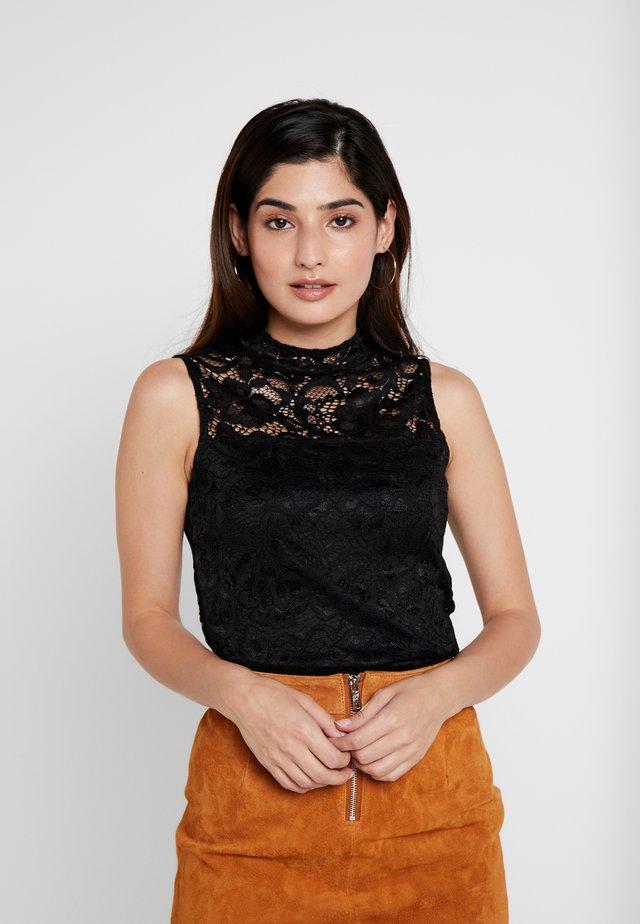 Bluse - black/black