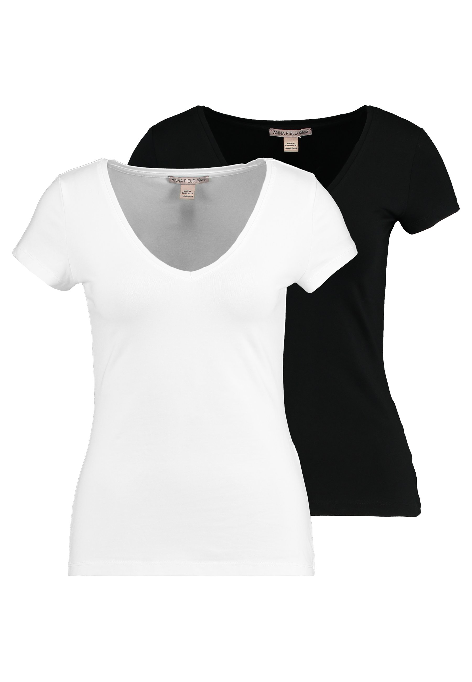 Anna Field Petite 2 PACK - T-shirts - black/white