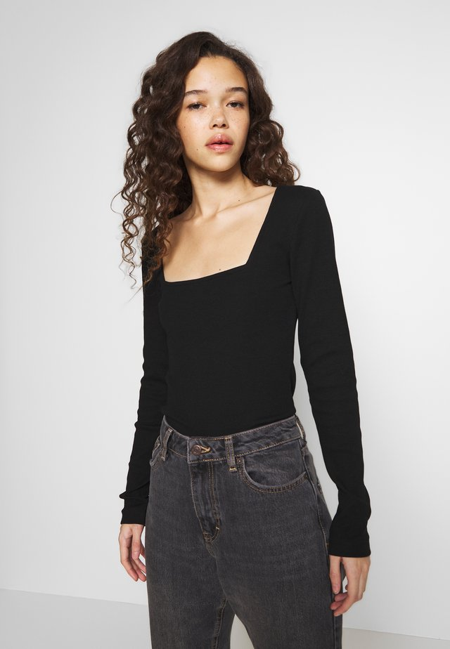 BASIC LONG SLEEVE TOP - Langarmshirt - black