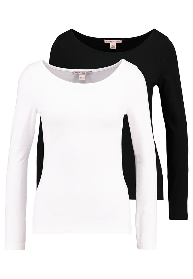 2PACK  - Langarmshirt - black/white