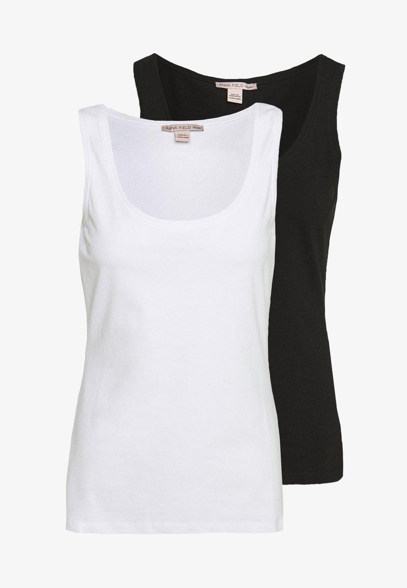 Anna Field Petite - 2 PACK - Topper - white/black
