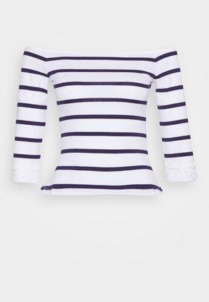 Camiseta estampada - white/dark blue