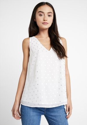 Blouse - silver/off-white