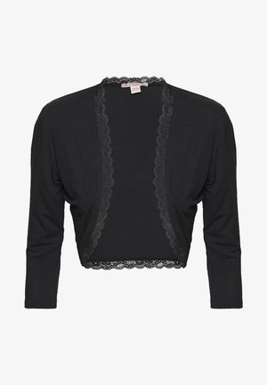 BASIC BOLERO - Strickjacke - black