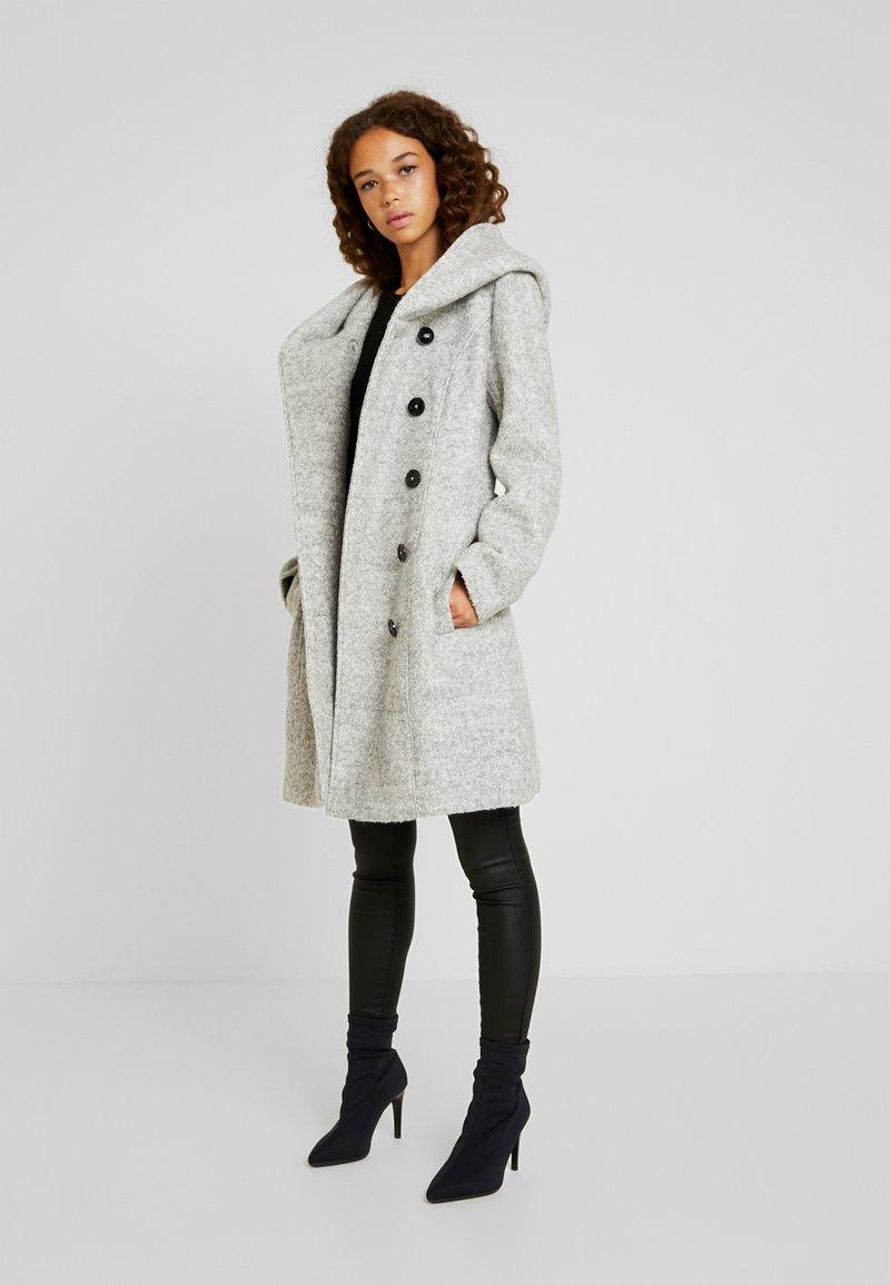 Anna Field Petite - Short coat - light grey melange