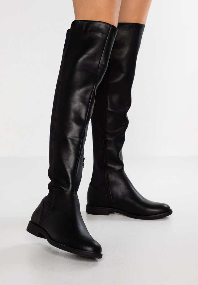 WIDE FIT - Over-the-knee boots - black