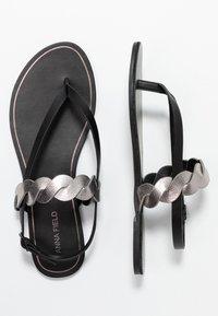 Anna Field Wide Fit - T-bar sandals - black - 3