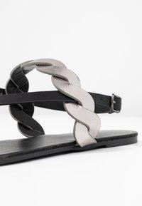 Anna Field Wide Fit - T-bar sandals - black - 2