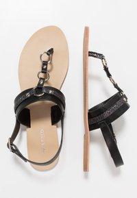 Anna Field Wide Fit - Sandály s odděleným palcem - black - 3