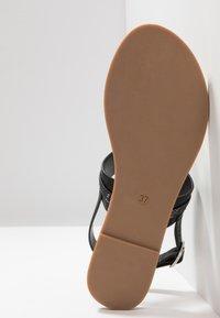 Anna Field Wide Fit - Sandály s odděleným palcem - black - 6