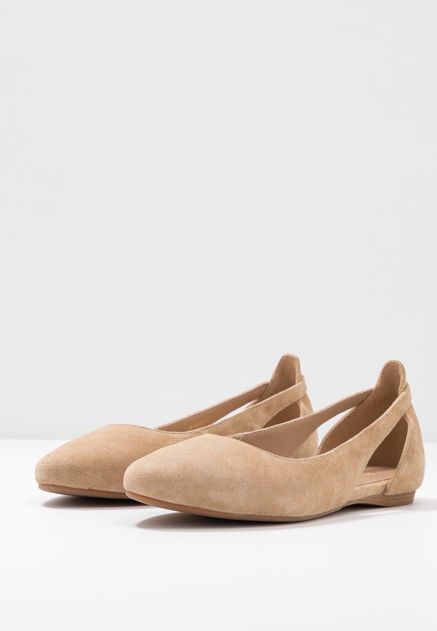 Anna Field Wide Fit LEATHER BALLERINAS - Ballerines - beige