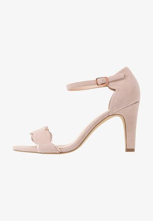 LEATHER HEELED SANDALS - Sandales à talons hauts - rose