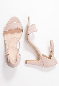 Anna Field Wide Fit - LEATHER - Korolliset sandaalit - rose - 3