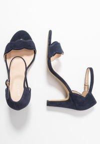 Anna Field Wide Fit - LEATHER HEELED SANDALS - High Heel Sandalette - dark blue - 3