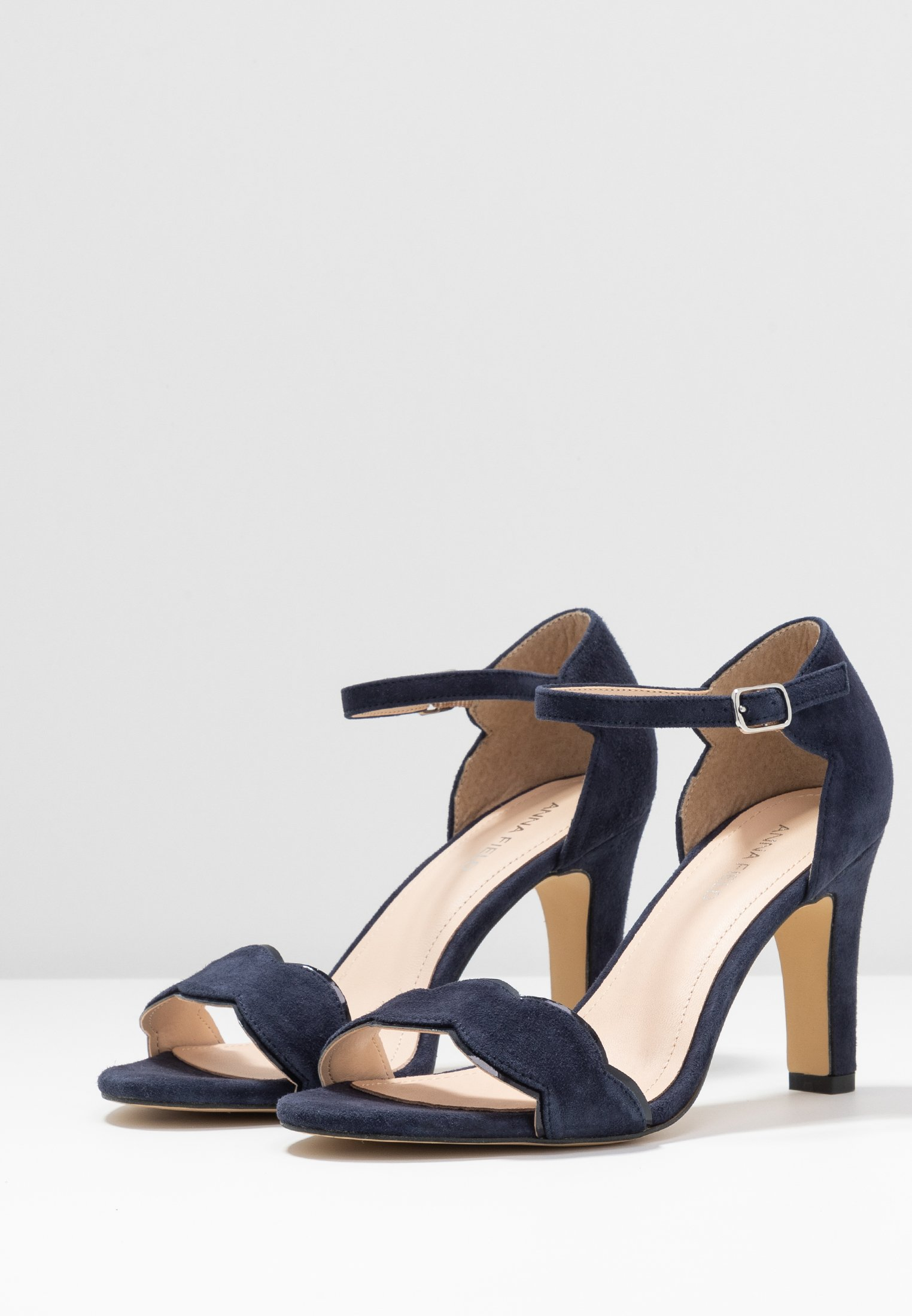 LEATHER Sandaletter dark blue