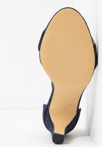 Anna Field Wide Fit - LEATHER HEELED SANDALS - High Heel Sandalette - dark blue - 6