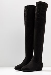 Anna Field Wide Fit - Ylipolvensaappaat - black - 4