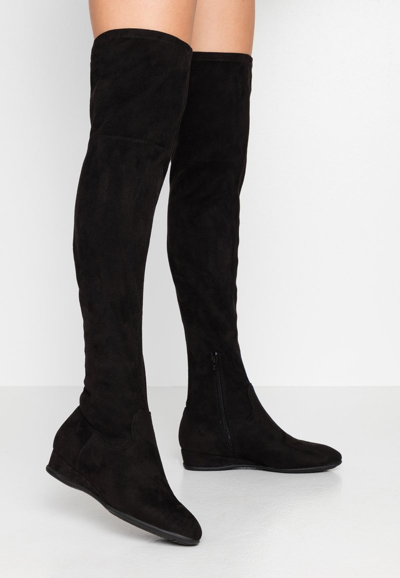 Anna Field Wide Fit - Ylipolvensaappaat - black