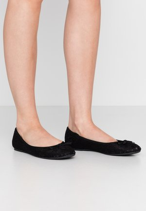 WIDE FIT - Ballerina - black