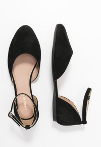 Anna Field Wide Fit - LEATHER ANKLE STRAP BALLET PUMPS - Ankle strap ballet pumps - black - 3