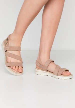 WIDE FIT LEATHER - Wedge sandals - rose
