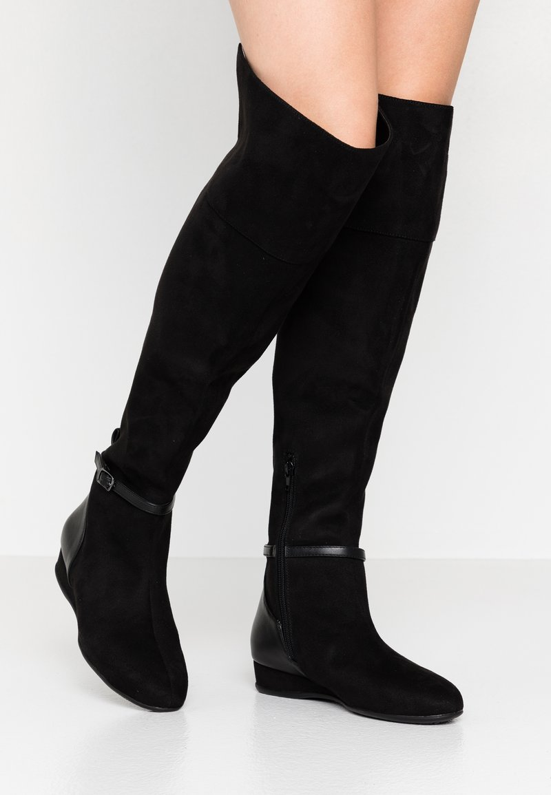 Anna Field Wide Fit - Over-the-knee boots - black