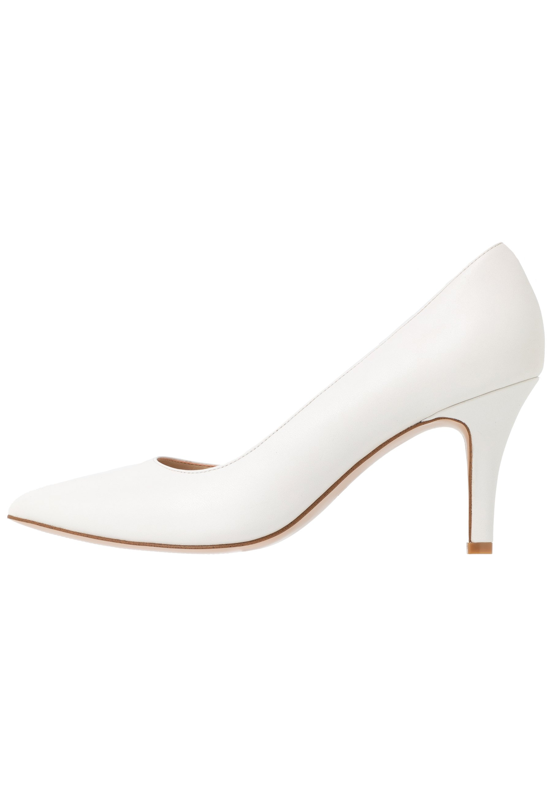 Anna Field Wide Fit Leather Pumps - White