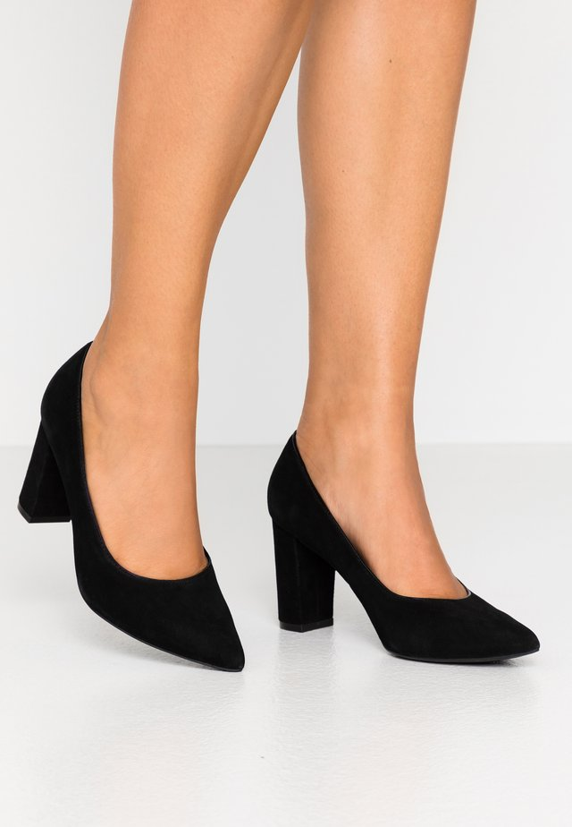 LEATHER CLASSIC HEELS - Pumps - black