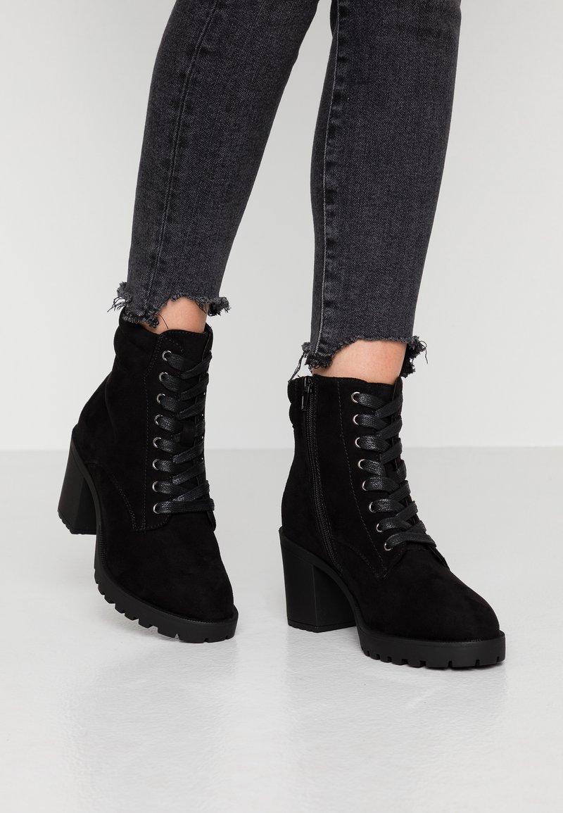 Anna Field Wide Fit - Kotníkové boty na platformě - black