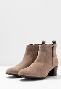 Anna Field Wide Fit - LEATHER BOOTIES - Ankle boot - taupe - 4