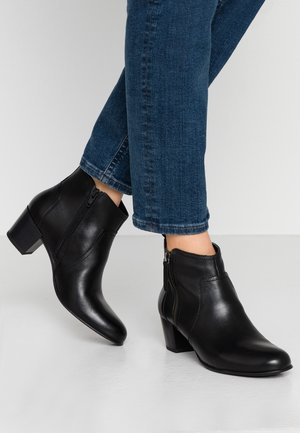 LEATHER BOOTIES - Ankle boots - black