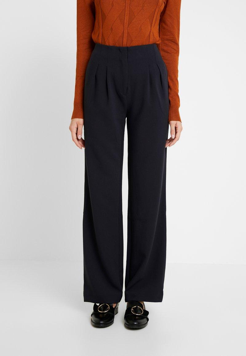 Another-Label - VARNAR PANTS - Trousers - black iris