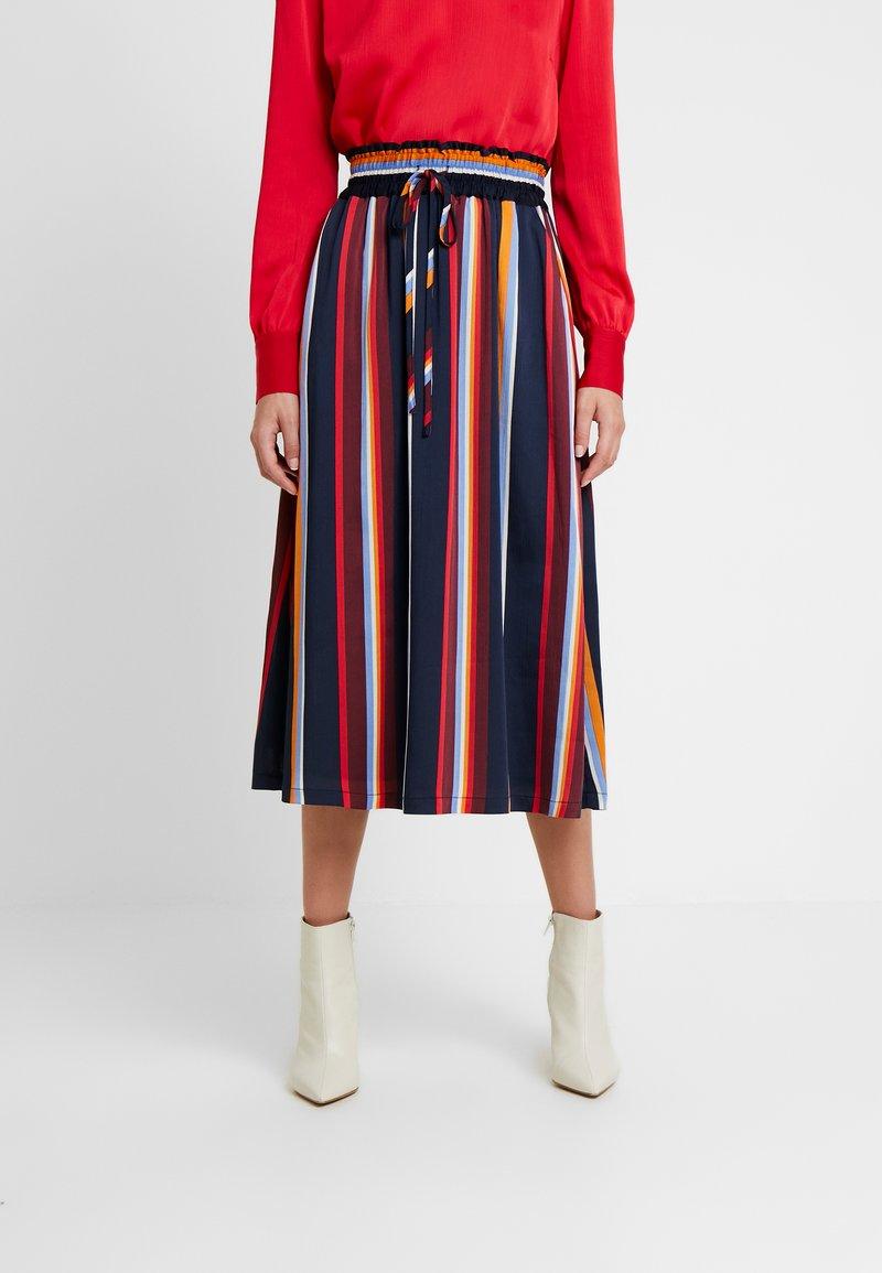 Another-Label - KNAPP SKIRT - A-line skirt - black iris