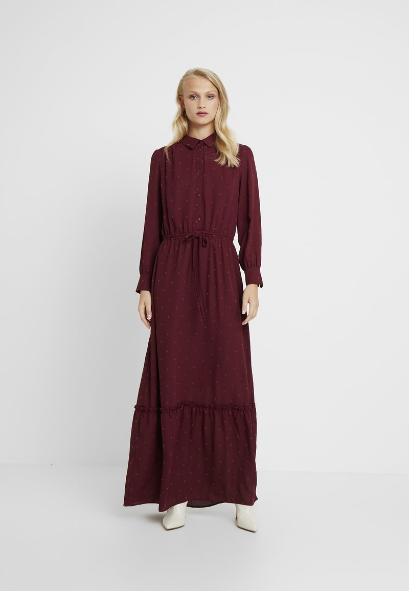 Another-Label - MALEY FLOWER DRESS - Maxikleid - windsor wine/brick