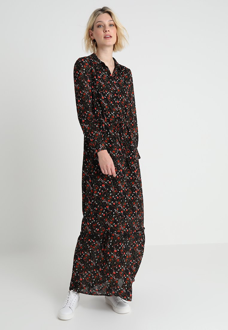 Another-Label - MALEY FLOWER DRESS - Maxi dress - black